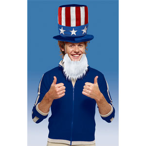 Patriotic Hat with Beard