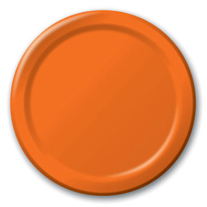 Sunkissed Orange 9 Inch Plates