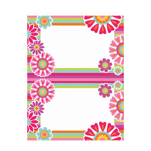 Bold Flowers 2-Up Invitations