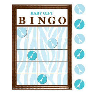 Wild Safari Bingo - Blue 10 ct