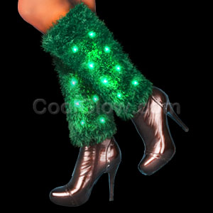 LED Leg Warmers - Green