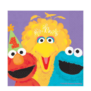Sesame Street's 1st Birthday Beverage Napkins - 36ct