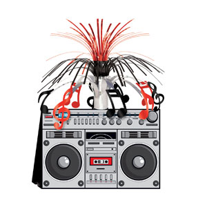 Boom Box Centerpiece - 14in