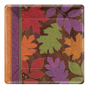 Fall Forward 10 Inch Square Plates