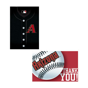 Arizona Diamondbacks Invitations and Thank You Cards Set- 16ct