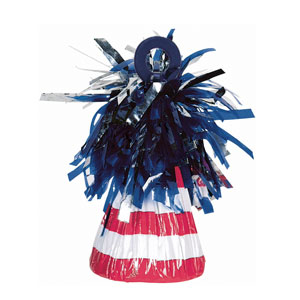 Patriotic Foil Balloon Weight- 6oz