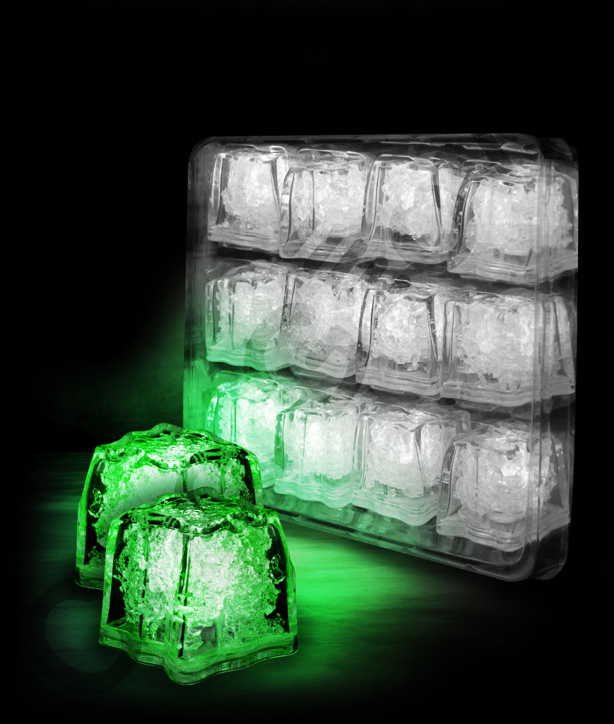 LED Litecubes Brand Ice Cubes - Green