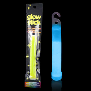 6 Inch Retail Packaged Glow Stick - Blue