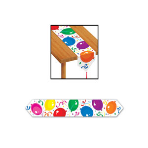Party Balloons Table Runner - 6 feet