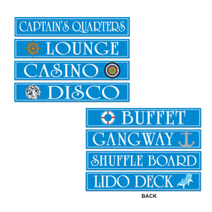 Cruise Ship Sign Cutouts- 4ct