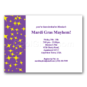 Purple and Yellow Glitz - Custom Invitations