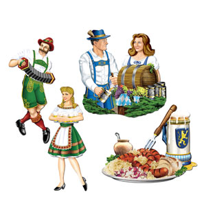 Oktoberfest Cutouts 20in - 4ct