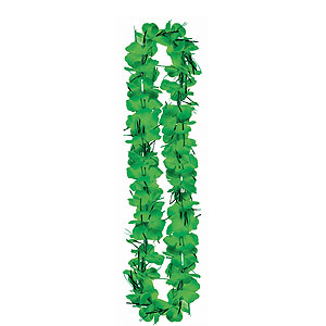 Green Tinsel Lei- 40in