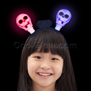 LED Flashing Skull Headband