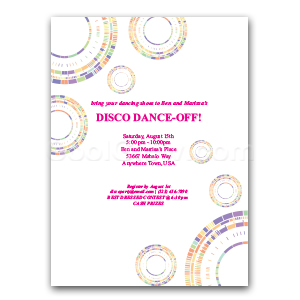 Rainbow Circles - Custom Invitations