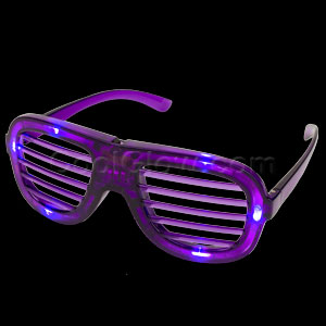 LED Shutter Shades - Purple
