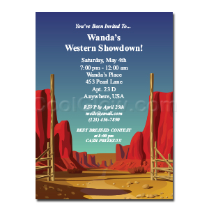 Desert Gate - Custom Invitations