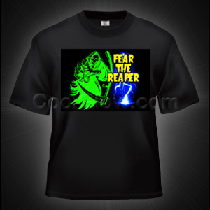 LED Sound Activated T-Shirt - Fear the Grim Reaper