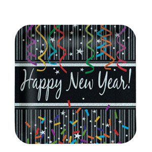 New Year Sparkle 7 Inch Plates
