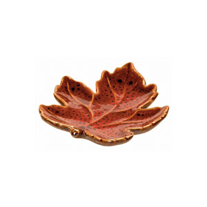 Fall Leaves Ceramic Plate- 5 Inch
