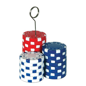 Poker Chips PhotoBalloon Holder- 6oz