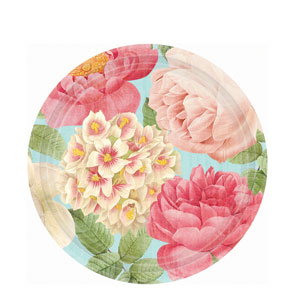 Blissful Blooms 10 Inch Plates- 18ct
