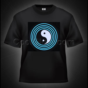 LED Sound Activated T-Shirt - Yin Yang