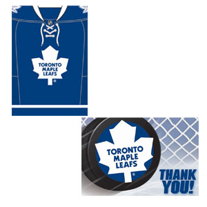 Toronto Maple Leafs Invitation and Thank You Card Set- 16ct