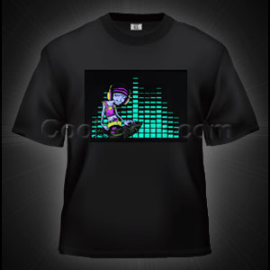 Fun Central O891 LED Light Up Sound Activated T-Shirt - Gradient DJ