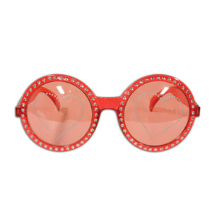 Jeweled Heart Glasses - Full Size