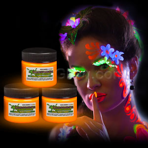 Glominex Glow Body Paint 1oz Jar - Orange