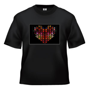 LED Sound Activated T-Shirt -Heart