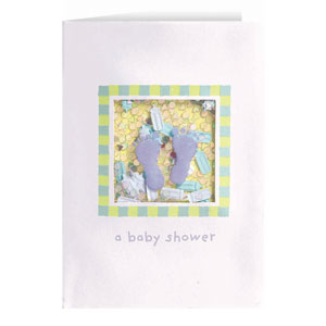 Baby Feet Confetti Invitation - 8ct