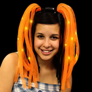 LED Party Dreads - Orange