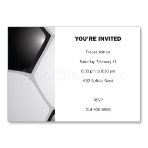 Soccer Party - Custom Invitations