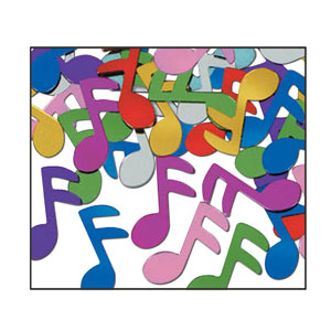 Multicolored Music Notes Confetti - 1oz