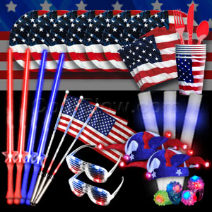 4th of July LED Party Package - Gold