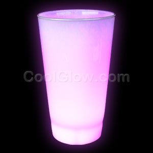 Glow LED Cup - 16oz Pink