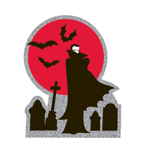 Vampire Printed Cutout- 15in