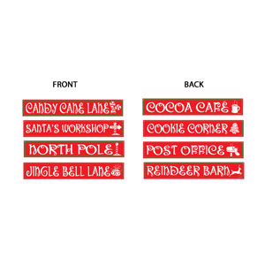 North Pole Street Sign Cutouts - 4ct