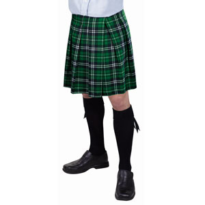 Green Plaid Kilt