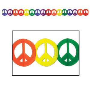 Peace Sign Garland - 12ft