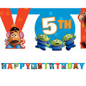 Toy Story 3 Add-An-Age Letter Banner- 10ft