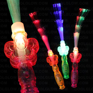 LED Fiber Optic Flower Wand - Assorted