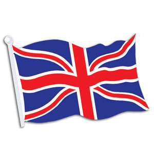 British Flag Cutout- 18in