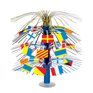 Nautical Flag Cascade Centerpiece- 18in