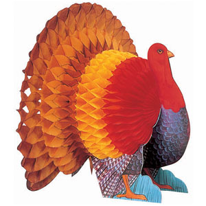 Turkey Honeycomb Centerpiece- 15 Inch
