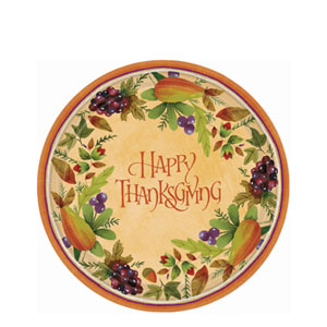 Thanksgiving Medley 7 Inch Plates- 8ct
