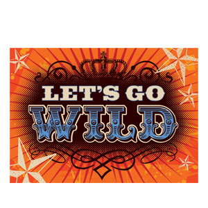 Let's Go Wild Musical Invitations- 8ct