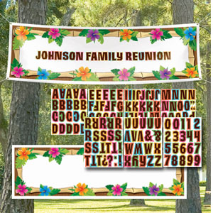 Giant Luau Personalized Banner - 65in
